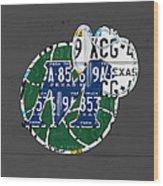 Dallas Mavericks Basketball Team Retro Logo Vintage Recycled Texas License Plate Art Wood Print