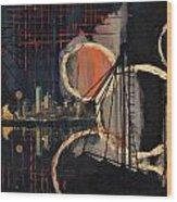 Dallas Skyline 002 Wood Print