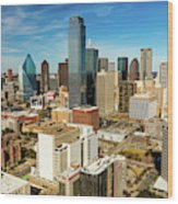 Dallas Skyline As Seen From Reunion Wood Print