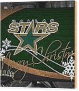 Dallas Stars Christmas Wood Print