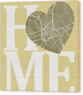Dallas Street Map Home Heart - Dallas Texas Road Map In A Heart Wood Print