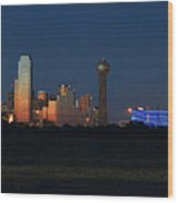 Dallas Sunset Wood Print