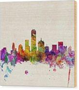 Dallas Texas Skyline Wood Print