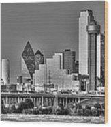 Dallas The New Gotham City  Wood Print