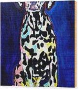 Dalmatian - Polka Dots Wood Print