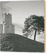 Dalmatian Stone Church On The Hill Wood Print by Brch Photography