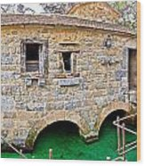 Dalmatian Village Traditional Stone Watermill Wood Print