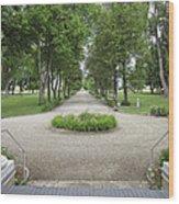 Daly Mansion Entrance - Montana Wood Print