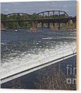 Dam And Rail Runs Wood Print