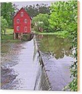 Dam At Starrs Mill Wood Print