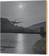 Dambusters Lancaster At The Derwent Dam At Night Wood Print