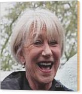 Dame Helen Mirren Wood Print