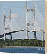 Dames Point Bridge Jacksonville Florida Wood Print