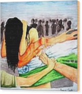 Delhi Gang Rape A Tragedy Wood Print