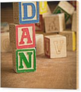 Dan - Alphabet Blocks Wood Print