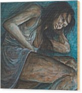 Danae Painting After Klimt Wood Print