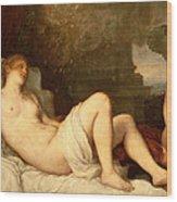 Danae Wood Print by Titian