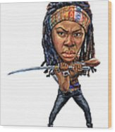 Danai Gurira As Michonne Wood Print