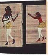 Dance And Flute Wood Print