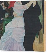 Dance At Bougival Renoir Wood Print