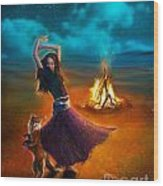 Dance Dervish Fox Wood Print