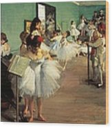 Dance Examination Wood Print by Edgar Degas