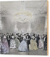 Dance Hall Of Mr. Laborde. Litography Wood Print by Everett