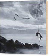 Dance In The Moon Wood Print