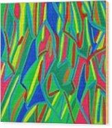 Dance Of Colors Wood Print