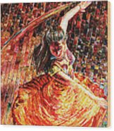 Dance Of Colors Wood Print