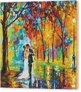 Dance Of Love Wood Print