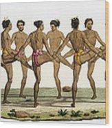 Dance Of The Caroline Islanders, Plate Wood Print