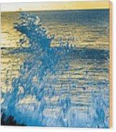 Dance Of The Crashing Wave Wood Print