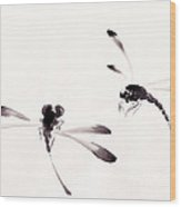 Dance Of The Dragonflies Wood Print