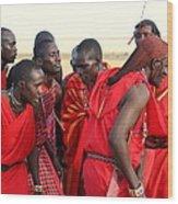 Dance Of The Maasai Wood Print