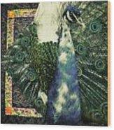 Dance Of The Peacock Wood Print