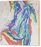 Dance Of The Rainbow Wood Print