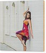 Dance On The Wall Wood Print