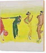 Dance Series 5 Of 8 Lindy Hop-swing Wood Print