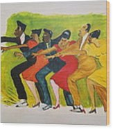 Dance Series1 0f 8-shim Sham Shimmy Wood Print