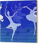Dance The Blues Away Wood Print