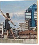 Dance The Durham Skyline Wood Print by Jh Photos