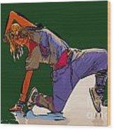 Dancer 26 Wood Print