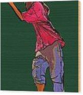 Dancer 34 Wood Print