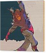 Dancer 35 Wood Print