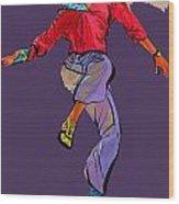 Dancer 42 Wood Print
