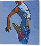 Dancer 58 Wood Print
