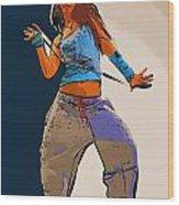 Dancer 64 Wood Print