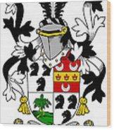 Dancer Coat Of Arms Irish Wood Print