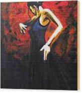 Dancer Flamenco Wood Print